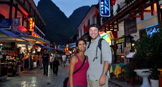 Manali & Terry in China