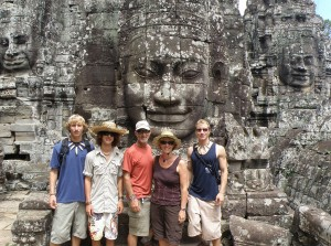 The Cooney Family at Angkor Wat