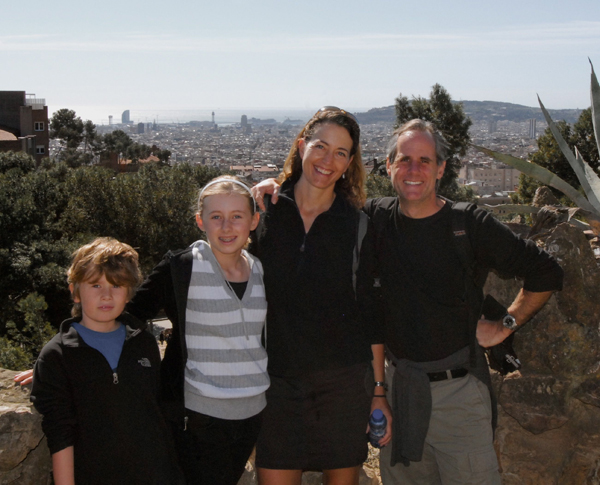 Smith family in Barcelona