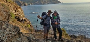 Warren and Betsy Hiking the Lycian Way in Turkey.  Travel is a real test of a relationship!