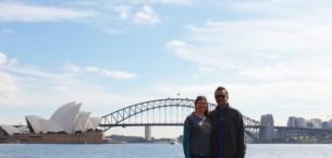 Sarah and Kris in Sydney, Australia