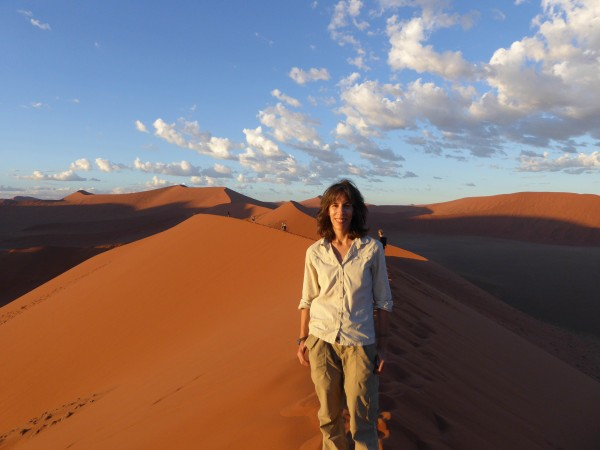 Namibia has the most beautiful skies of any place I have been. This photo was taken on the dunes in Sossusvlei, Namibia, one of the highlights of my time there.