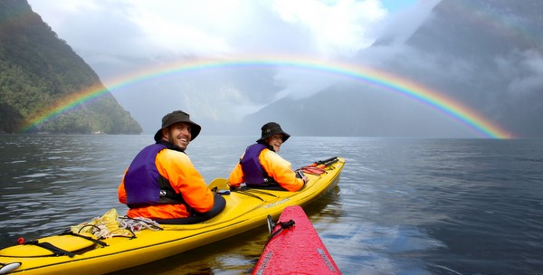 Kayaking Milford Sound